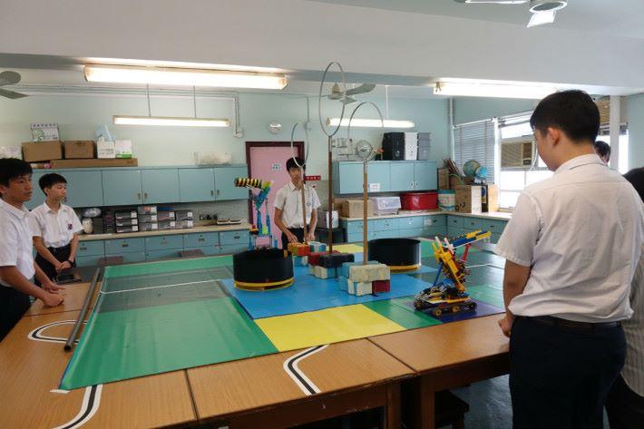 中華基督教會馮梁結紀念中學按比賽環境製作的模擬場地。