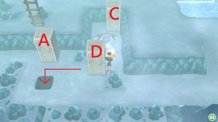 然後直接將 D 柱向下推就可以往下層尋找急凍鳥了。