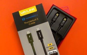 功欲善其事 必先換條線 WAVLINK Thunderbolt 3 Cable