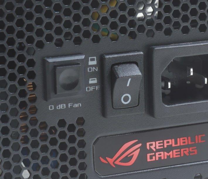 0dB 風扇的按鈕。