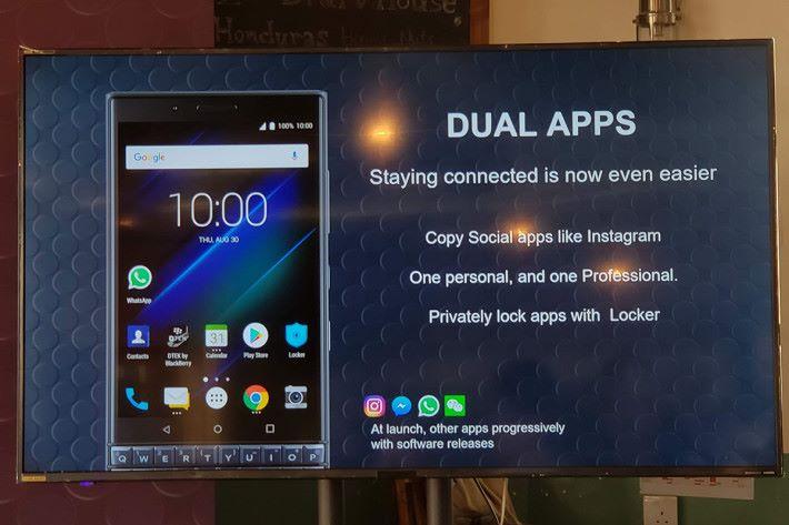 加入 Dual Apps 功能,例如可將工作與私人的 WhatsApp 帳戶分開。