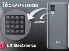 密集恐惧 LG 取得 16 镜头手机专利