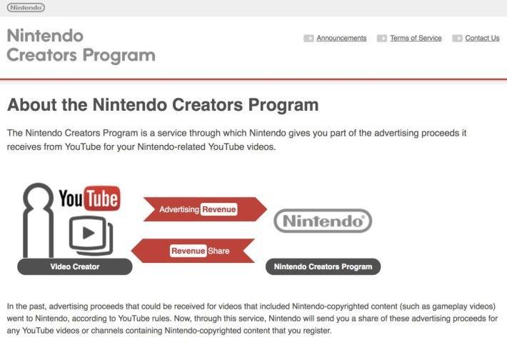 而家上傳任天堂遊戲上 YouTube ,任天堂同影片創作人分廣告費嘅「 Nintendo Creators Program 」會喺 12 月底結束。