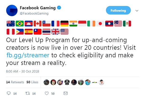 雖然於 Facebook 連結中只顯示 13 個國家可申請升級,但根據官方 Twitter 目前有 21 個國家可以申請。