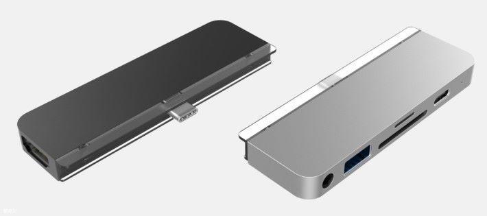 USB Hub 能固定在 iPad Pro 上面