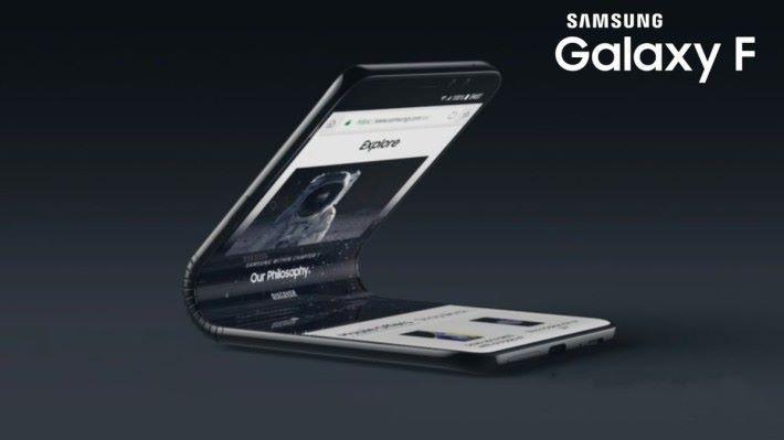 Samung 首部摺屏手機