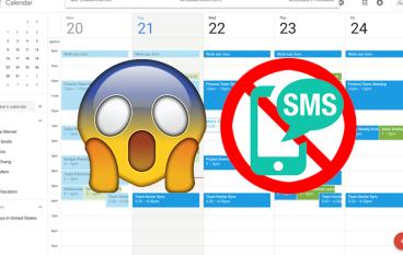 Google 日曆取消 SMS 短訊通知點算好?