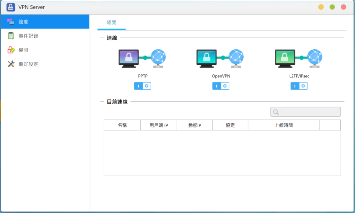 VPN Server 除了 PPTP 及 OpenVPN 之外,亦提供更安全的 L2TP/IPsec 連線。