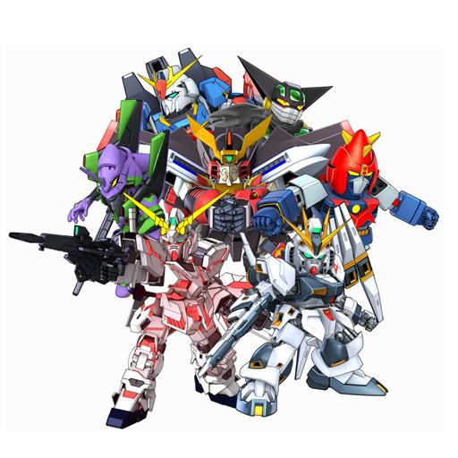 World 02 有勇者王、V 型電磁俠、 Z 高達、真三一萬能俠、EVA、高達 UC 和馬沙的反擊。