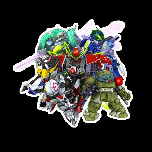 World 04 有革命機、鐵血孤兒、 ZEGAPAIN、裝甲騎兵和蒼流星