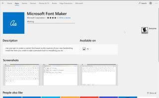 《 Font Maker 》可以在 Microsft 網上商店下載到