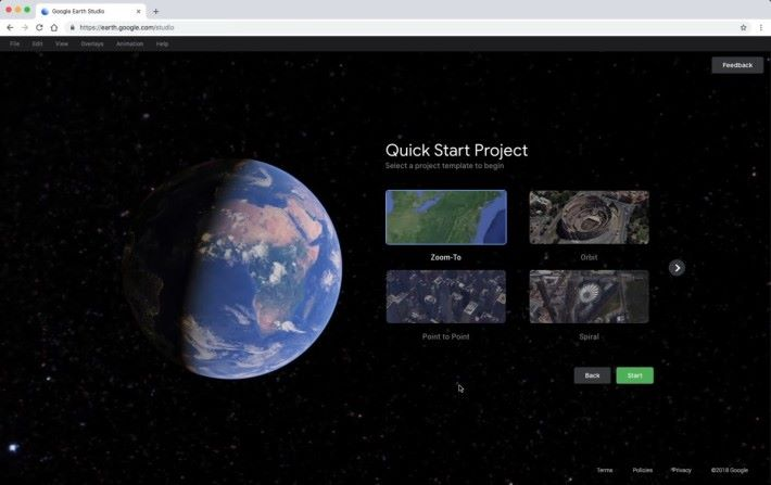 軟件本身已備有螺旋拍攝、從外太空飛近地面、點對點軌跡等製作方法,幫用戶製作精彩偽.航拍影片。