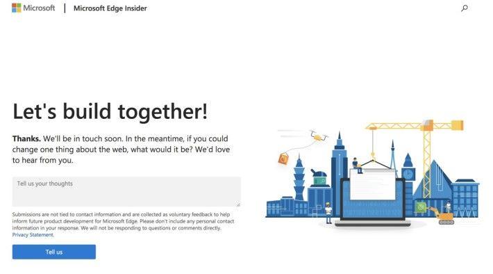 Microsoft 為開發者開設了 Microsoft Edge Insider 網頁