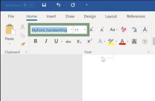 安裝好後,在各軟件的字體選擇裡就會見到你建立的字體;