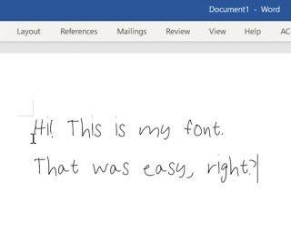 可以用自己的筆觸來寫文件了!