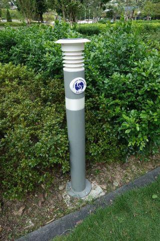 零炭天地內有三支智慧燈柱,最新是圖中柱高較接近地面的燈柱。