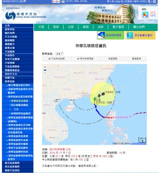 林博士指出天文台的颱風預測,近年既有參考外地,也整合本地數據,五日內的預測準確度十分高。