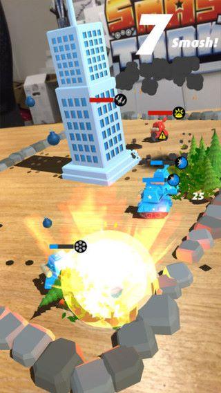 連續撞到物件的 Smash 數愈高,對敵人的傷害都會隨之提高。