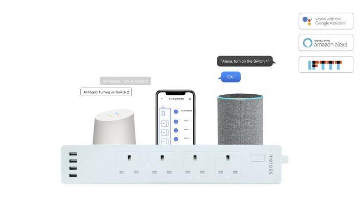支援 Google 及 Amazon 智能助理