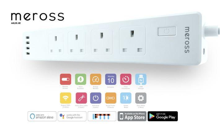 用家能透過手機 apps 監察及設定智能拖板的使用情況。