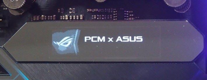 完成後可顯示「PCM×ASUS」。