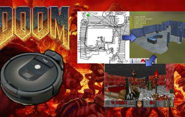 Roomba 掃地機械人繪製《 DOOM 》遊戲地圖!