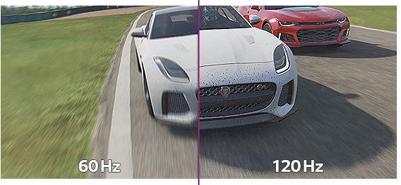 於遊玩賽車或射擊遊戲時,具備高刷率的屏幕有利得多。