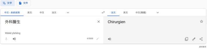 中譯法暫時未有不同性別的結果