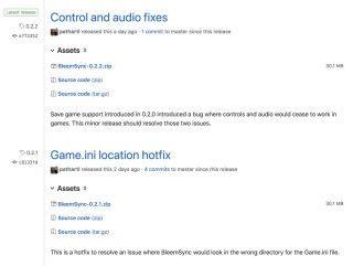 從 release 清單中可以看到 BleemSync 非常活躍,幾乎每日都有新版本。