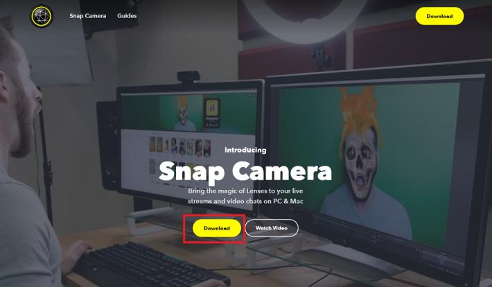 首先到 Snap Camera 官方網站下載軟件