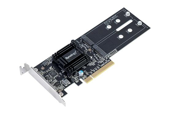可加插 Synology M2D18 雙 M.2 SSD 快取擴充卡。