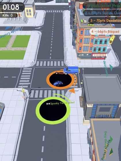 Hole.io 黑洞大作戰,是一款上癮度極高的遊戲。