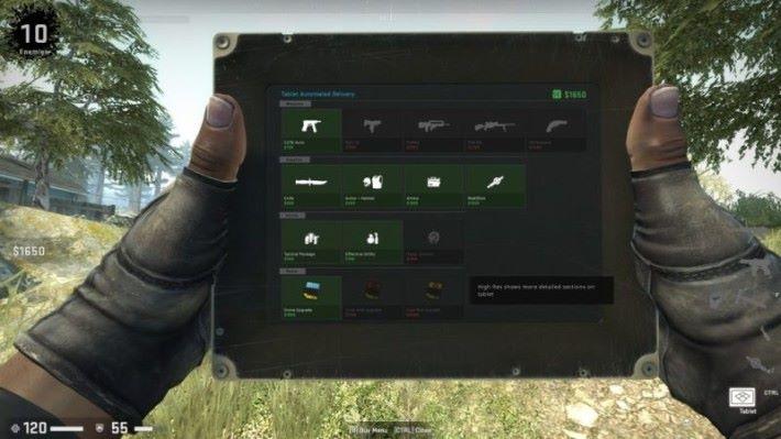 除了槍械,要獲勝就要熟用平版電腦。