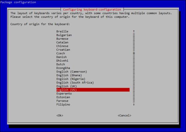 將 Keyboard Layout 改回 English (US) ,令鍵盤變回我們慣用的美式鍵盤。
