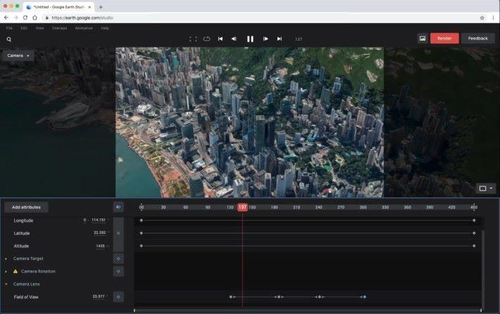 香港的地理環境已經收錄在內,要拍出在中環高樓間穿梭的影片不用航拍機!