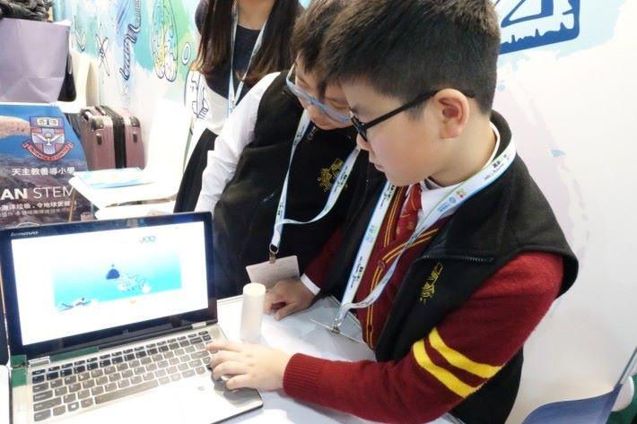 場內到處可見科技教育分享。