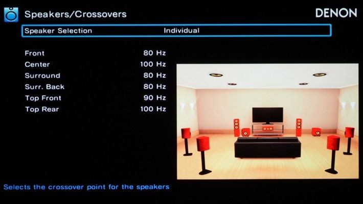 (P11).當影音擴音機辨識到輸入的 DTS:X 是 iMAX Enhanced 版本的 DTS:X 是,會自動執行 iMAX Enhanced 專用的低音管理系統,所有喇叭會使用一套特定頻率特高通濾波 (High Pass Filter),以及在 LFE 聲道 (低音喇叭)使用專用的低通濾波(Low Pass Filter),簡單講就是用 iMAX 標準重新分配各聲道的低音分配,務求做到類似 iMAX 影院的全頻環繞聲,這也是建議用比較大的喇叭作環繞聲和天空聲的原因。
