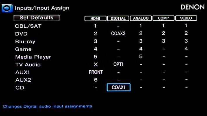 .X8500H 下的 Input / Input Assign 選項下,可以將 CD 指定一組同軸或光纖輸入。