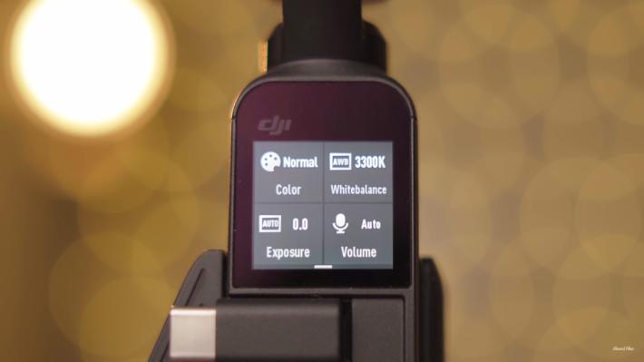 拍攝影片時,能調教色溫、矯色、曝光及收音控制。