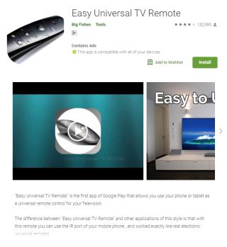 《 Easy Universal TV Remote 》下載次數超過 500 萬次