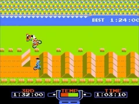 《 Excitebike 》於當時是極少數提供自訂要素的遊戲。