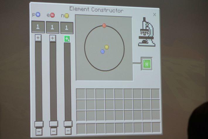 陳汝堅老師分享,運用 Minecraft 製作一個元素計算器。