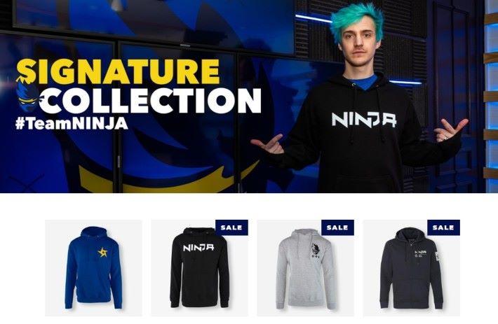 自家服飾品牌 Team Ninja