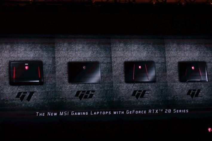 目前共有 4 個系列的型號升級至 RTX 20 GPU。
