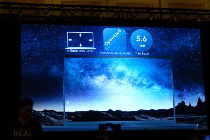 超窄邊框屏幕。
