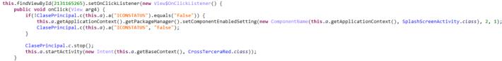 程式含有可隱藏自己在背景執行的程式碼