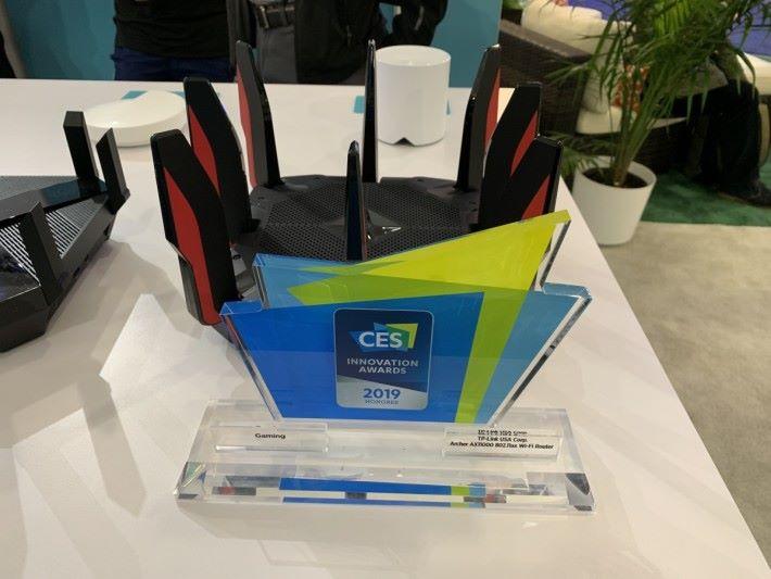 獲 CES 2019 電競 Router 類別的創新大獎。