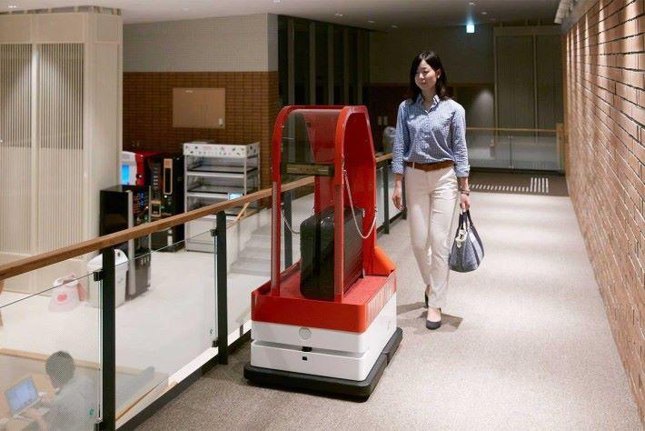 運輸行李的機械人,是最實用的機械。