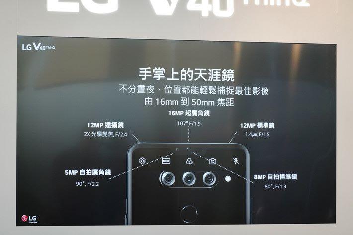 內置 16MP 超廣角鏡頭、12MP 主鏡頭及 12MP 兩倍長焦鏡頭,構成全面的三鏡頭主相機系統。