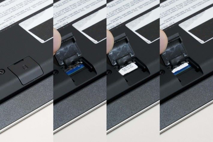 配備 SIM 卡插槽,可以插入 SIM 卡連接流動網絡。